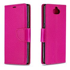 Handytasche Stand Schutzhülle Leder Hülle L02 für Sony Xperia XA3 Rot