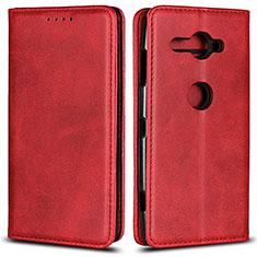 Handytasche Stand Schutzhülle Leder Hülle L02 für Sony Xperia XZ2 Compact Rot