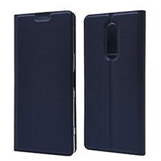 Handytasche Stand Schutzhülle Leder Hülle L02 für Sony Xperia XZ4 Blau