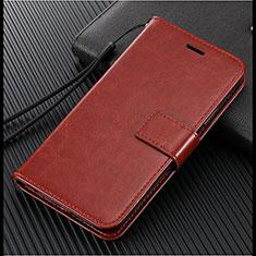Handytasche Stand Schutzhülle Leder Hülle L02 für Vivo X50 Lite Braun