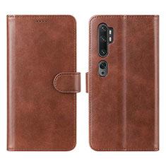 Handytasche Stand Schutzhülle Leder Hülle L02 für Xiaomi Mi Note 10 Pro Braun