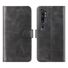 Handytasche Stand Schutzhülle Leder Hülle L02 für Xiaomi Mi Note 10 Schwarz