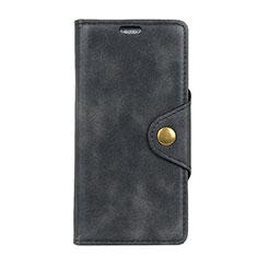 Handytasche Stand Schutzhülle Leder Hülle L03 für Alcatel 1 Schwarz