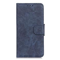 Handytasche Stand Schutzhülle Leder Hülle L03 für Alcatel 3 (2019) Blau