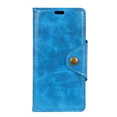 Handytasche Stand Schutzhülle Leder Hülle L03 für Asus Zenfone 5 Lite ZC600KL Blau