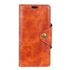 Handytasche Stand Schutzhülle Leder Hülle L03 für Asus ZenFone Live L1 ZA551KL Orange