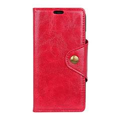 Handytasche Stand Schutzhülle Leder Hülle L03 für Asus ZenFone Live L1 ZA551KL Rot