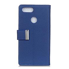 Handytasche Stand Schutzhülle Leder Hülle L03 für Asus Zenfone Max Plus M1 ZB570TL Blau