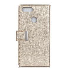 Handytasche Stand Schutzhülle Leder Hülle L03 für Asus Zenfone Max Plus M1 ZB570TL Gold
