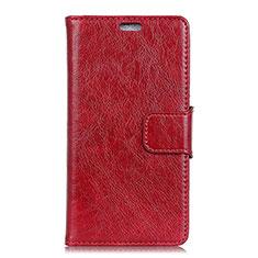 Handytasche Stand Schutzhülle Leder Hülle L03 für Asus Zenfone Max Pro M2 ZB631KL Rot