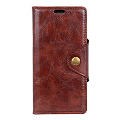 Handytasche Stand Schutzhülle Leder Hülle L03 für HTC Desire 12 Plus Braun