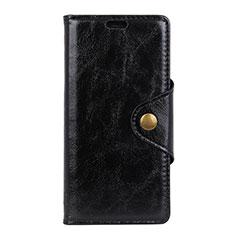 Handytasche Stand Schutzhülle Leder Hülle L03 für HTC Desire 12 Plus Schwarz