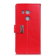 Handytasche Stand Schutzhülle Leder Hülle L03 für HTC U11 Eyes Rot