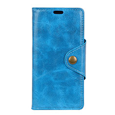 Handytasche Stand Schutzhülle Leder Hülle L03 für HTC U12 Life Blau