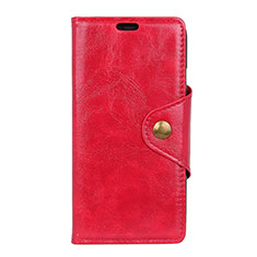 Handytasche Stand Schutzhülle Leder Hülle L03 für HTC U12 Life Rot