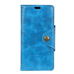 Handytasche Stand Schutzhülle Leder Hülle L03 für HTC U12 Plus Blau
