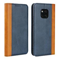 Handytasche Stand Schutzhülle Leder Hülle L03 für Huawei Mate 20 Pro Blau