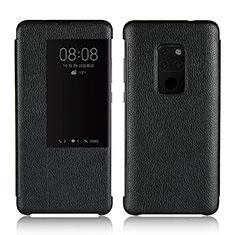 Handytasche Stand Schutzhülle Leder Hülle L03 für Huawei Mate 20 Schwarz