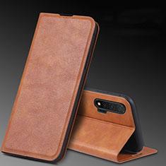 Handytasche Stand Schutzhülle Leder Hülle L03 für Huawei Nova 6 5G Braun