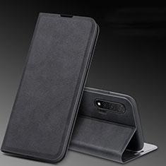 Handytasche Stand Schutzhülle Leder Hülle L03 für Huawei Nova 6 Schwarz