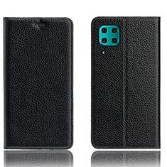 Handytasche Stand Schutzhülle Leder Hülle L03 für Huawei Nova 6 SE Schwarz