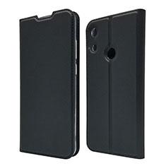 Handytasche Stand Schutzhülle Leder Hülle L03 für Huawei Y6 Pro (2019) Schwarz