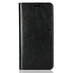 Handytasche Stand Schutzhülle Leder Hülle L03 für Huawei Y9 (2018) Schwarz
