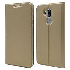 Handytasche Stand Schutzhülle Leder Hülle L03 für LG G7 Gold