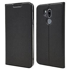 Handytasche Stand Schutzhülle Leder Hülle L03 für LG G7 Schwarz