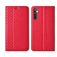 Handytasche Stand Schutzhülle Leder Hülle L03 für Realme XT Rot