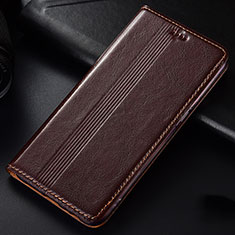 Handytasche Stand Schutzhülle Leder Hülle L03 für Samsung Galaxy A81 Braun