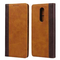 Handytasche Stand Schutzhülle Leder Hülle L03 für Sony Xperia 1 Orange