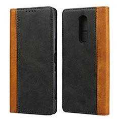 Handytasche Stand Schutzhülle Leder Hülle L03 für Sony Xperia 1 Schwarz
