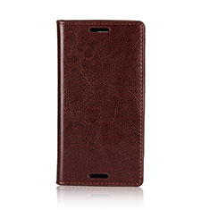 Handytasche Stand Schutzhülle Leder Hülle L03 für Sony Xperia XZ1 Compact Braun