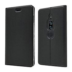 Handytasche Stand Schutzhülle Leder Hülle L03 für Sony Xperia XZ2 Premium Schwarz