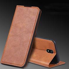 Handytasche Stand Schutzhülle Leder Hülle L03 für Xiaomi Redmi 8A Braun