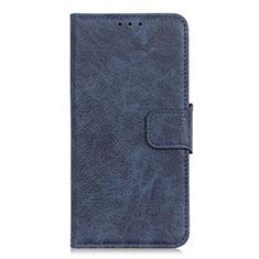 Handytasche Stand Schutzhülle Leder Hülle L04 für Alcatel 3X Blau