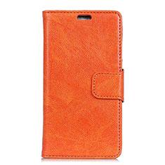 Handytasche Stand Schutzhülle Leder Hülle L04 für Asus ZenFone Live L1 ZA551KL Orange