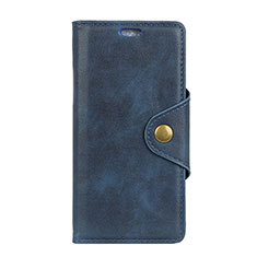 Handytasche Stand Schutzhülle Leder Hülle L04 für Asus Zenfone Max Pro M2 ZB631KL Blau
