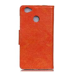 Handytasche Stand Schutzhülle Leder Hülle L04 für Google Pixel 3a XL Orange