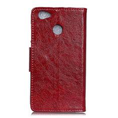 Handytasche Stand Schutzhülle Leder Hülle L04 für Google Pixel 3a XL Rot