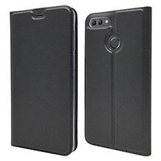 Handytasche Stand Schutzhülle Leder Hülle L04 für Huawei Enjoy 8 Plus Schwarz