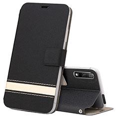 Handytasche Stand Schutzhülle Leder Hülle L04 für Huawei Honor 9X Schwarz