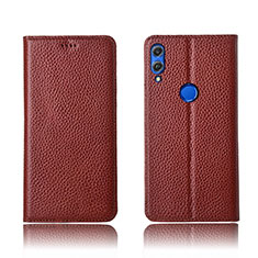 Handytasche Stand Schutzhülle Leder Hülle L04 für Huawei Honor View 10 Lite Braun