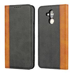 Handytasche Stand Schutzhülle Leder Hülle L04 für Huawei Mate 20 Lite Schwarz