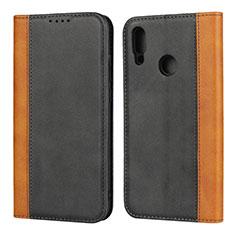 Handytasche Stand Schutzhülle Leder Hülle L04 für Huawei P Smart (2019) Schwarz