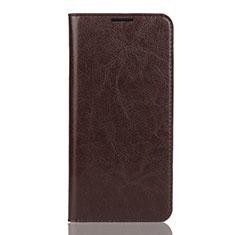 Handytasche Stand Schutzhülle Leder Hülle L04 für Huawei Y7 Pro (2019) Braun