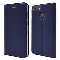 Handytasche Stand Schutzhülle Leder Hülle L04 für Huawei Y9 (2018) Blau
