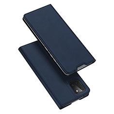 Handytasche Stand Schutzhülle Leder Hülle L04 für Samsung Galaxy A81 Blau
