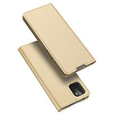 Handytasche Stand Schutzhülle Leder Hülle L04 für Samsung Galaxy A81 Gold